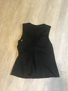 Athleta black size S small  ? yoga tank top  built in true bra
