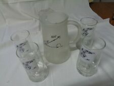 Bc Johnny Hart Zot Anteater frosted pitcher 4 glasses