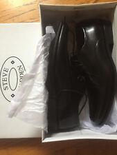 New in Box Steve Madden Mens GILFOYLE Black Leat Leather Dressy Oxford Shoe- 11