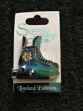 Disney Stitch Ice Skate Christmas Hinged Pin 2016 Limited Edition