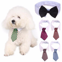 Pet Dog Bow Tie Collar Adjustable Striped Necktie Party Wedding Gravata Grooming