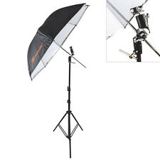 "33"" Speedlight Umbrella Flash Light Stand Swivel Bracket Hot Shoe Mount Adapter"