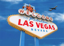 Las Vegas Sign by Day & Night - 3D Lenticular Motion Postcard Greeting Card