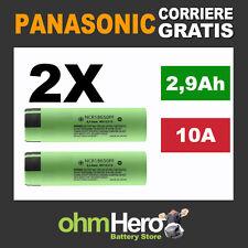 2X Cella 18650 Originale Panasonic NCR18650PF 2900mAh - Batteria sigaretta bb