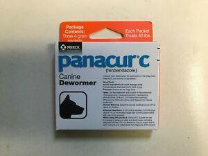 MERCK Panacur C (Fenbendazole) Canine Dewormer 3 x 4g Packets ONE BOX (Orange)
