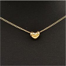 18K Rose Beauty Gold Plated romantic Heart Pendant Necklace jewellery set chain