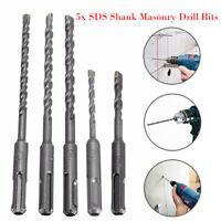 5 x SDS Rotary Hammer Concrete Masonary Drill Bit Set Hole Tool Ø 5.5/6/7/7/8 mm