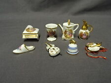 Job Lot / Collection Of Miniature Limoges Dolls House Pieces - Lot 1