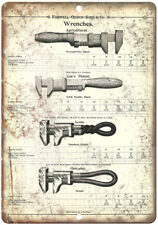 """Farwell Ozmun Kirk & Co Wrenches Spec Sheet Ad - 10"""" x 7"""" Retro Look Metal Sign"""