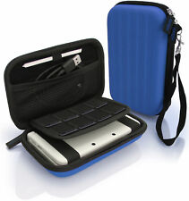 iGadgitz Blue Eva Hard Travel Carry Case Cover for Nintendo 3ds XL (all Vers