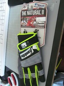 THE NATURAL II ADULT SIZE LARGE BATTING GLOVES FRANKLIN NWTS
