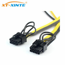 New Dual PCI-e PCIe Graphics Video Card 8pin 6+2pin Splitter Power Cable Cord