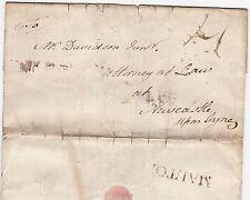 * 1780 MALTON PMK LETTER JAMES PRESTON TO DAVIDSON ATTORNEY AT NEWCASTLE ON TYNE