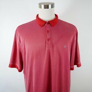 Callaway Mens Polyester Opti Dri Short Sleeve Red Dotted Golf Polo Shirt XL