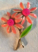 Colorful Costume Riveted Enamel Vintage 50s Brooch Pin Great Colors
