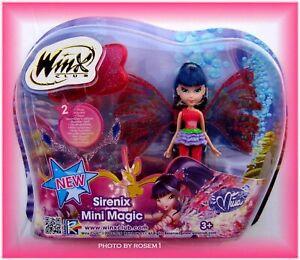 Winx Club Sirenix Mini Magic Doll Fairy MUSA has 2 WINGS w Transforming Function
