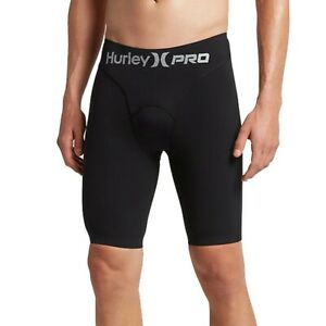 Hurley Pro Max Compression Fit Surf Shorts Jammers 100+ UPF Black Men's Size L