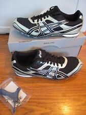 NEW IN BOX mens CLEATS shoes size 8.5  ASICS Hyper MD 4 black / onyx / silver