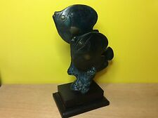 Brass bronze 3 fish coral reef statue sculpture art decor art sea life tropical
