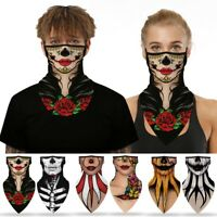 Motorcycles Bike Bandana Tube Head Scarf Neck Gaiter Face Scarves Mouth Cover
