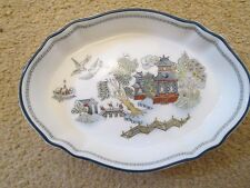 Ovale Fine Bone China Decorated Pin Dish 'Chinese LEGEND' Pattern By Wedgwood