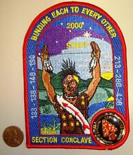 OA SR3A SECTION CONCLAVE 133 138 148 190 213 288 428 PATCH STAFF 2000 FLAP + PIN