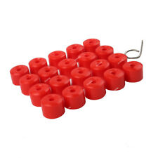Red Wheel Lug Nut Covers Socket Bolt Cap Dismantle Tool For VW Jetta Polo EOS