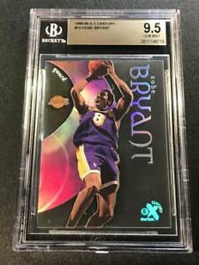 KOBE BRYANT 1998 SKYBOX E-X CENTURY #10 HOLOFOIL REFRACTOR ACETATE CARD BGS 9.5