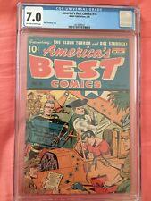 AMERICA'S BEST COMICS #16 CGC FN/VF 7.0; OW-W; Schomburg cover!
