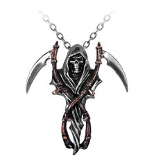 ALCHEMY REAPER'S ARMS PEWTER PENDANT, GRIM REAPER, DEATH, GOTHIC + FREE GIFT BOX