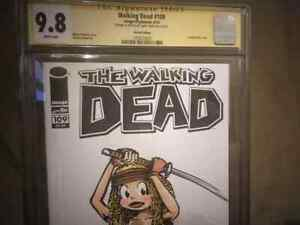 WALKING DEAD #109 - SKETCHED by Larry Welz - CHERRY as  MICHONNE - one of a kind