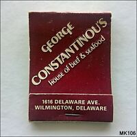 George Constantinou's House of Beef & Seafood Delaware Matchbook (MK106)