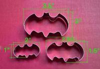 Batman Cookie Cutter 3 Piece Set, Cookies, Baking, Fondant, Crafts Free Shipping