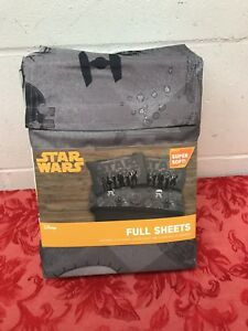 New Star Wars Kessel Crew Full Sheet Set Gray New Disney Super Soft 4 Pc Bedding