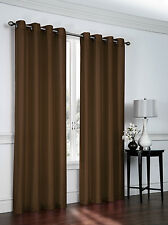 2 Pack: Victoria Classics Faux Silk 84 in. L Grommet Curtains - Assorted Colors