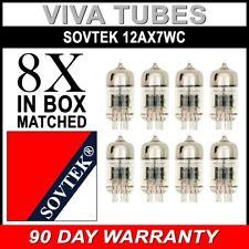 Gain Matched Octet (8) Sovtek 12AX7WC 7025 ECC83 Vacuum Tubes - Brand New