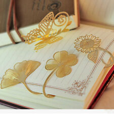 3 Pcs/Set Gold Metal Bookmarks for Book Vintage Paper Clip Stationery Office