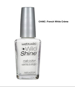 Wet n Wild Wildshine Nail Polish- Black Crème C424A & French White Crème C449C