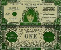 Beatles 1964 Vintage Money John Lennon One Beatles Dollar Bill NM COA