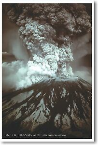 Mt St Helens Eruption - NEW Classroom Science Poster