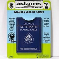 Deland's Marked Deck - Blue - SS ADAMS - Magic Tricks - Delands - New