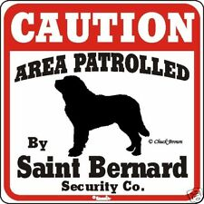 Saint Bernard Caution Dog Sign