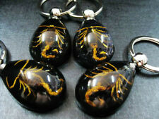 8pcs vogue design golden scorpion black drop design nice Xmas gift key-chains