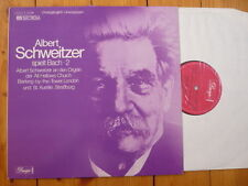 ALBERT SCHWEITZER spielt Bach - 2 / ALL HALLOWS CHURCH LONDON & ST AURELIE LP