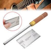 Gitarren Edelstahl Datei Bundfeile Fret File + Messlineal Reparatur Werkzeuge DE