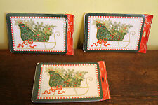 48 Vintage Christmas Greeting Post Cards By Drawing Board 3 Pks Sleigh W/Holly