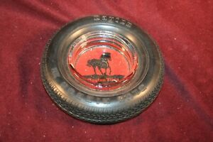 Vintage Tire Ashtray - With Glass Insert - DAYTON TIRES