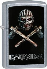 Zippo Iron Maiden Album Cover Book Of The Souls Street Chrome Lighter 29434 NEW