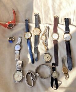 Repair/Parts Job Lot Old Watch Omega Smiths Manual Seiko Automatic BabyG Casio