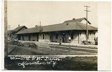 RPPC NY Marathon New D.L.& W. Railroad Depot Station Cortland County
